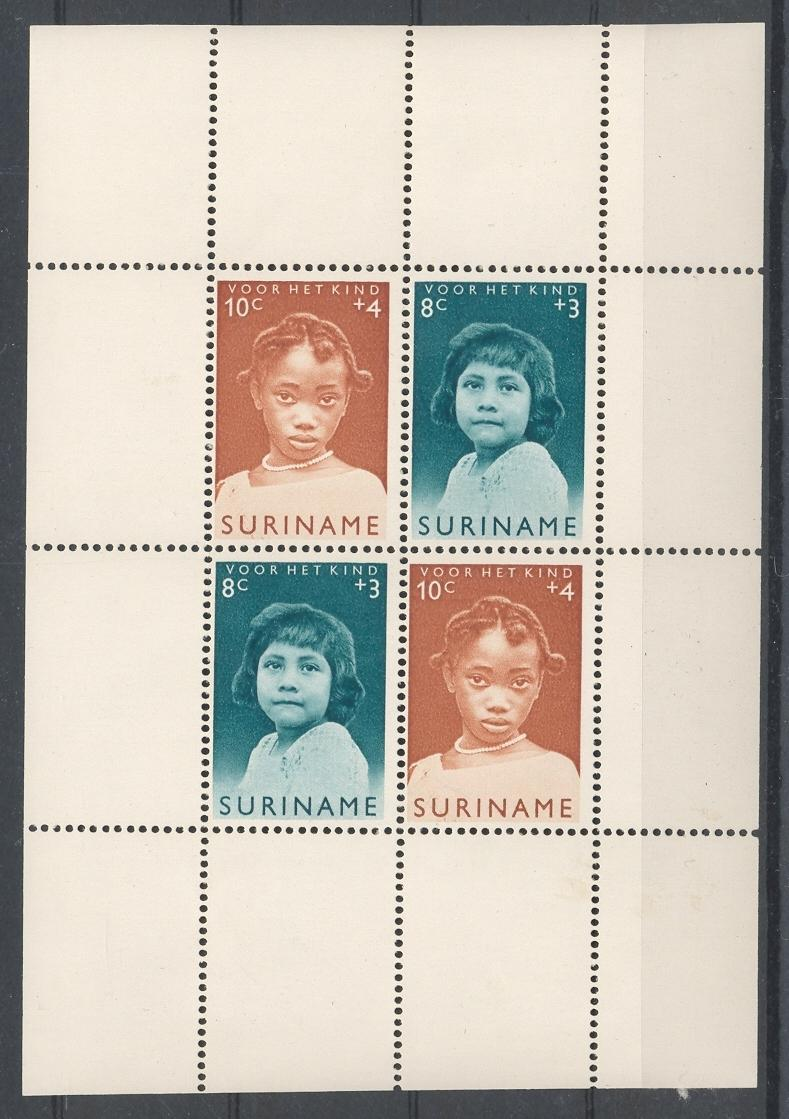 Stamps with Children, Voor het Kind from Suriname (image for product #039810)