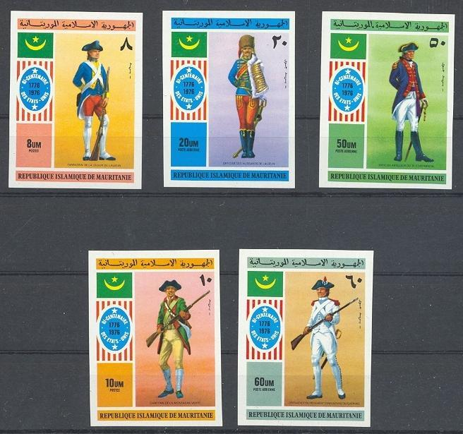 Stamps with USA, Uniform from Mauritania (image for product #040087)