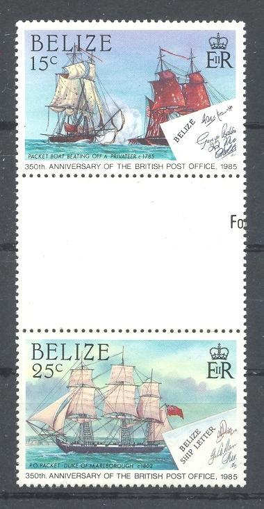 Stamps with Ship from Belize (image for product #042946)