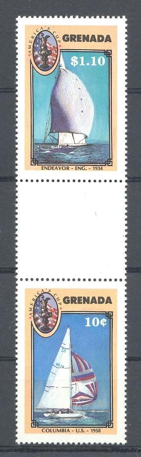 Stamps with Sailing, Ship from Grenada (image for product #043142)