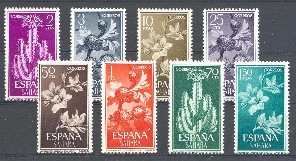 Stamps with Flowers, Plants from Sahara Sp. (image for product #044540)