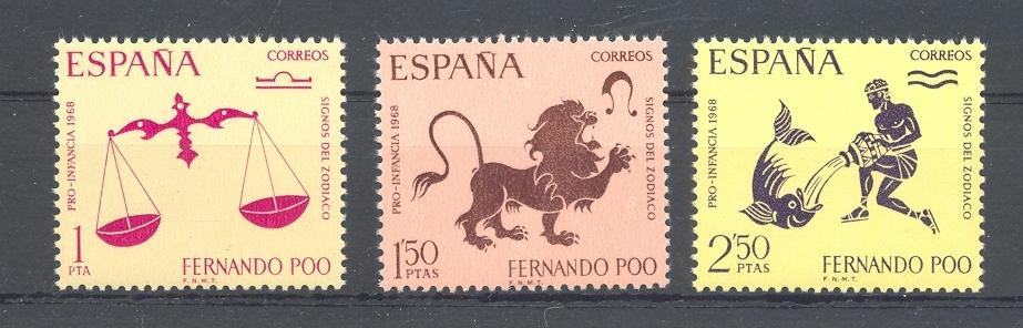 Stamps with Zodiac / Constellation from Spain (image for product #044561)