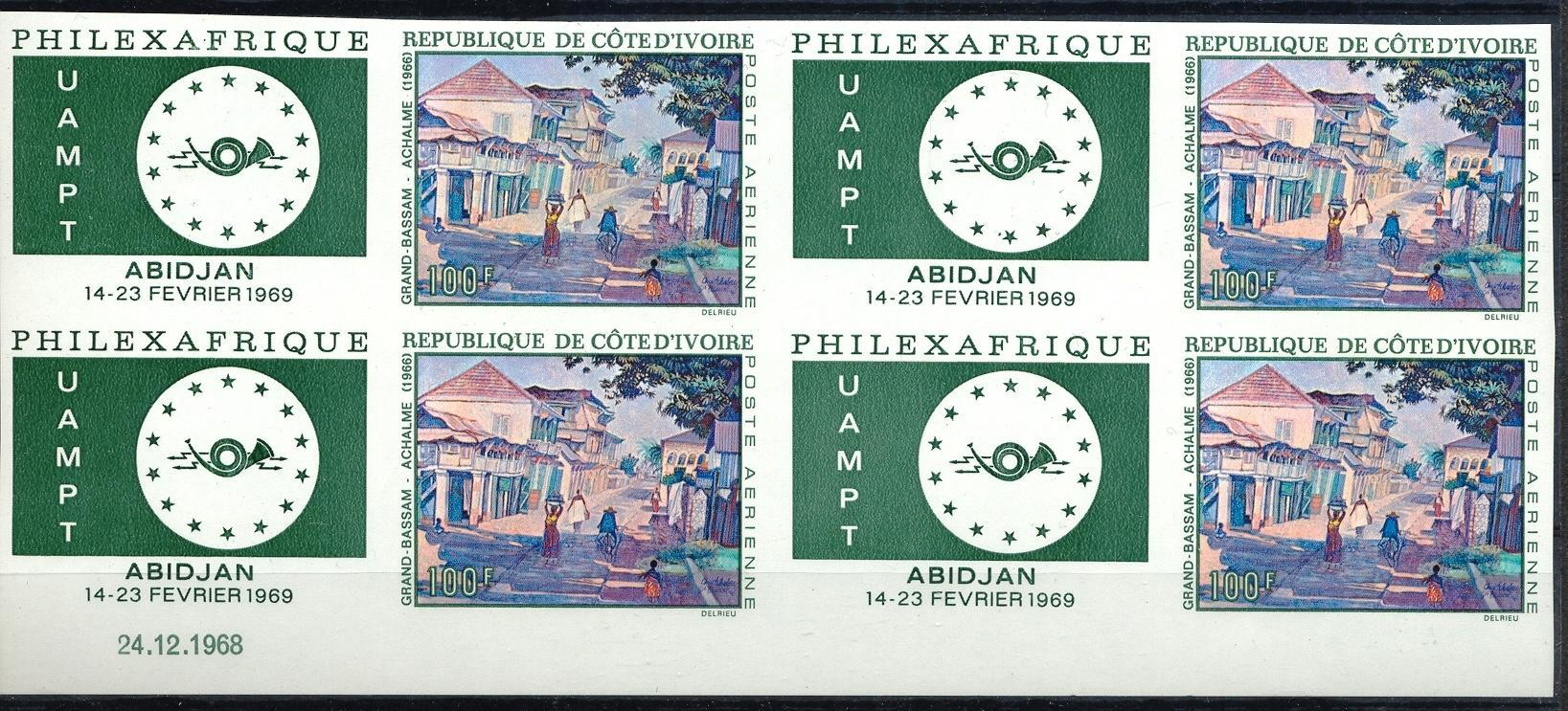 Stamps with Butterflies, Art, UAMPT from Cote d'Ivoire (image for product #045315)