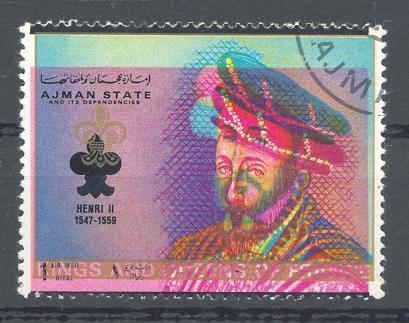 Stamps with Royalty from Ajman (image for product #045425)