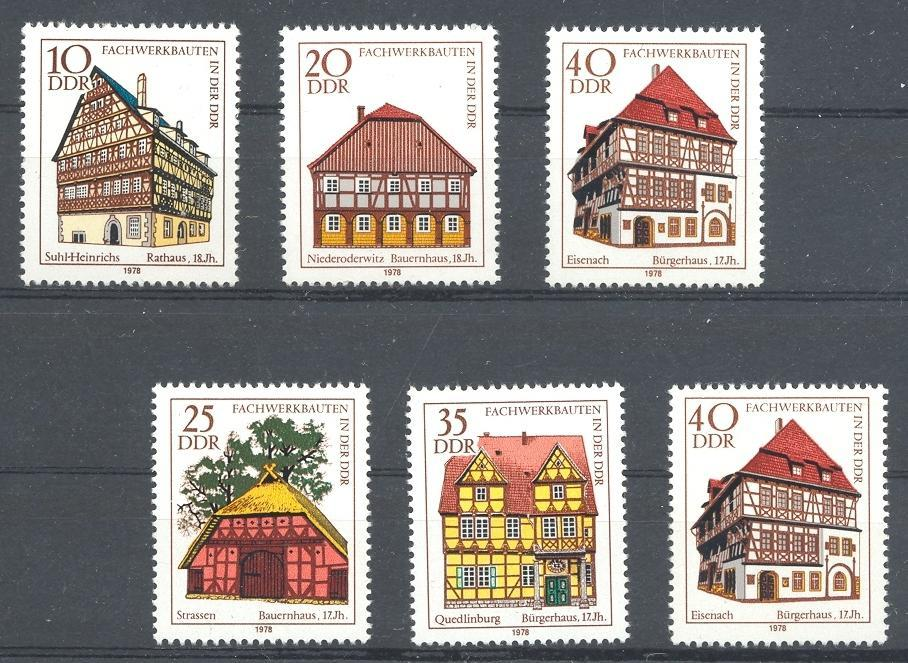 Stamps with Buildings from Germany (DDR) (image for product #045454)