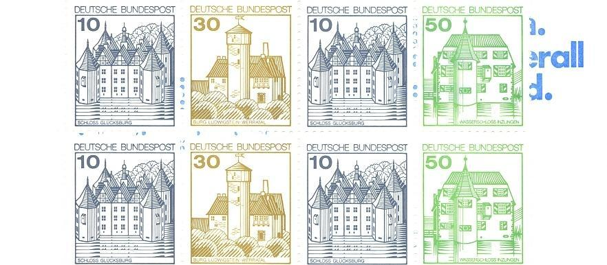 Stamps with Architecture, Booklet from Germany (image for product #047063)