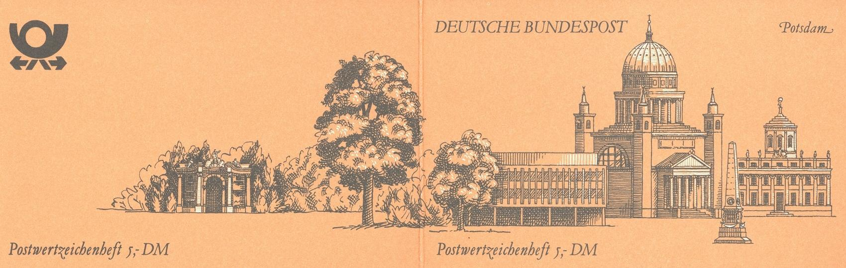Stamps with Architecture, Booklet, Cities from Germany (image for product #047064)