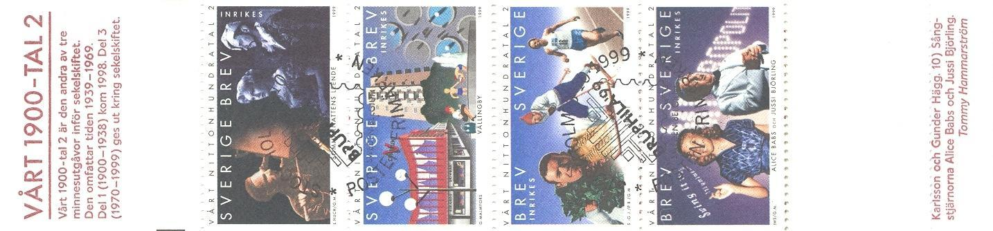 Stamps with Booklet, Millennium from Sweden (image for product #047092)