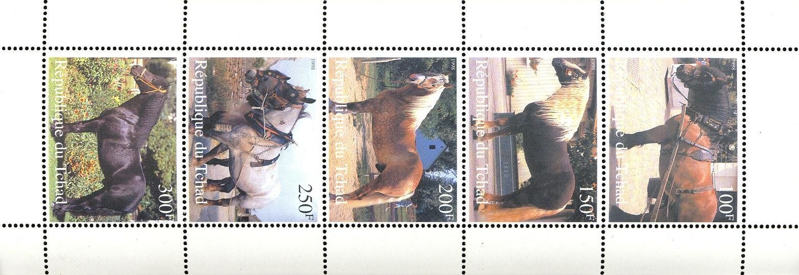 Stamps with Horse from Chad (non official) (image for product #049433)