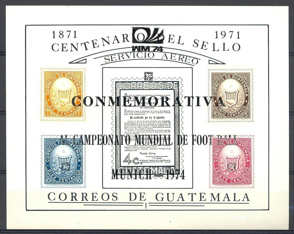 Stamps with Soccer, Stamp on Stamp from Guatemala (image for product #051967)