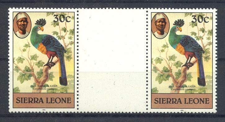 Stamps with Bird from Sierra Leone (image for product #053150)