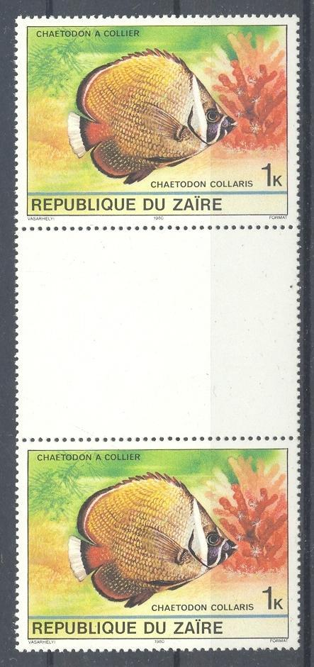 Stamps with Fish from Zaire (image for product #053883)