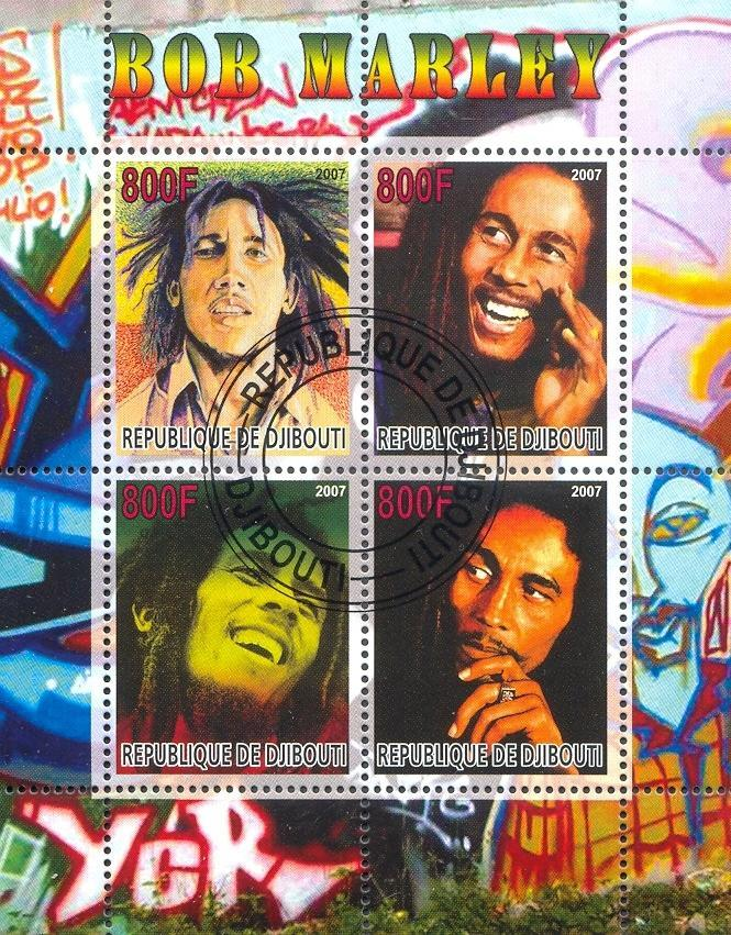 Stamps with Popstars, Bob Marley, Marley Bob from Djibouti (non official) (image for product #054764)