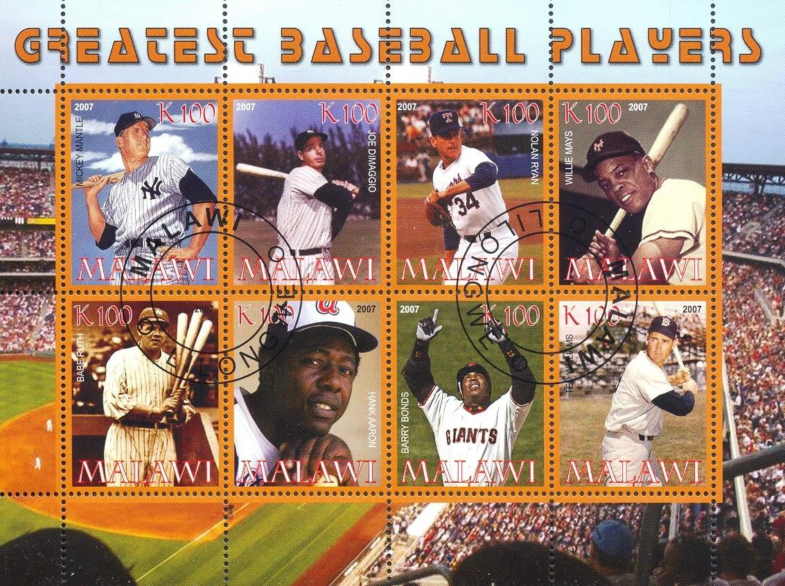 Stamps with Baseball from Malawi (non official) (image for product #054774)