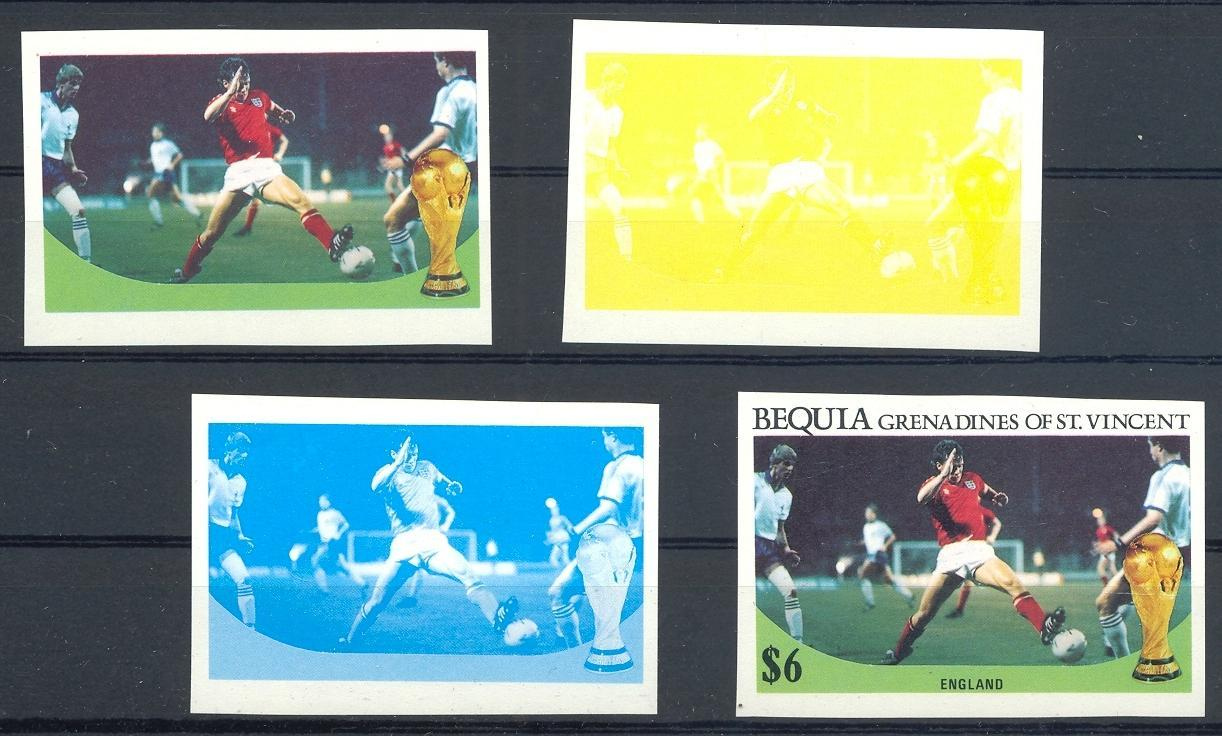 Stamps with Soccer from Bequia (image for product #057994)
