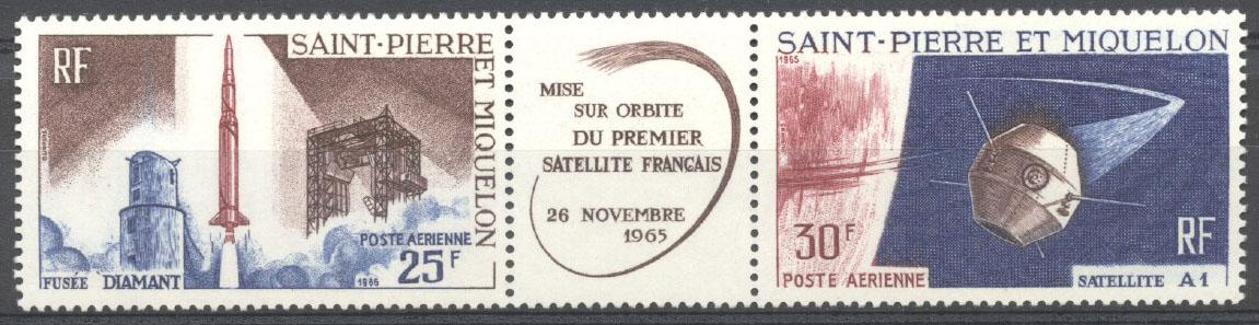 Stamps with Space from St. Pierre & Miquelon (image for product #138301)