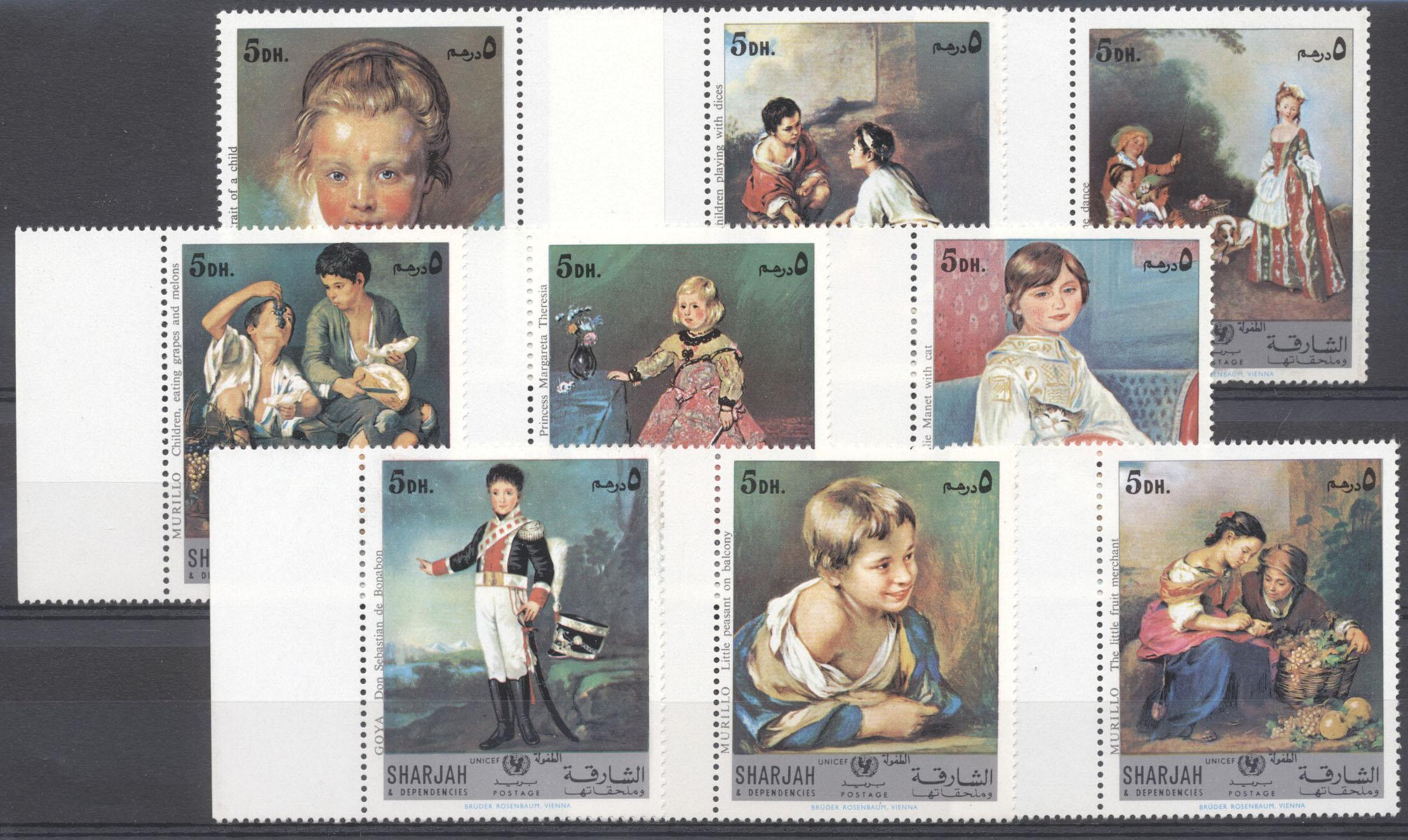 Stamps with UNICEF, Art from Sharjah (image for product #142443)