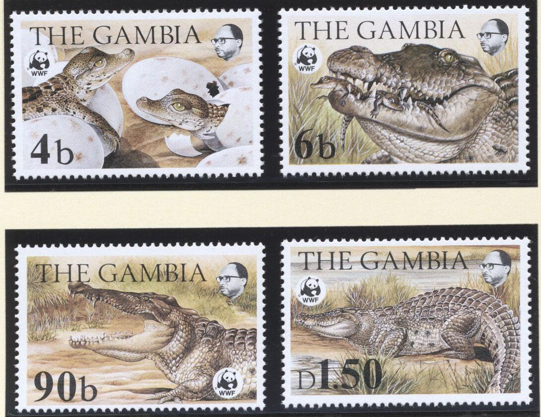 Stamps with WWF, Crocodile from Gambia (image for product #182217)