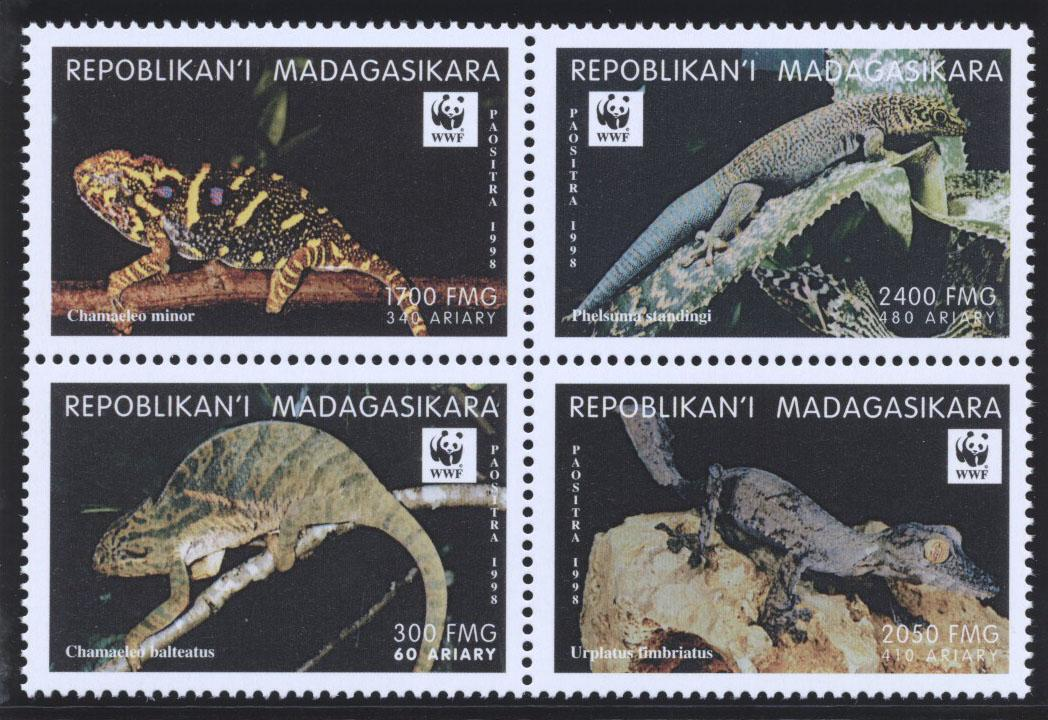Stamps with WWF, Reptiles from Madagascar (image for product #182233)