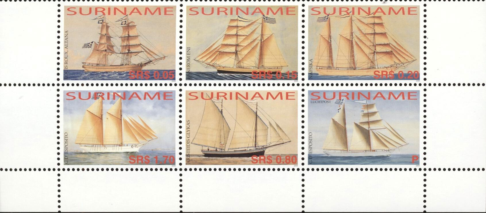 Stamps with Ship from Suriname (image for product #194594)