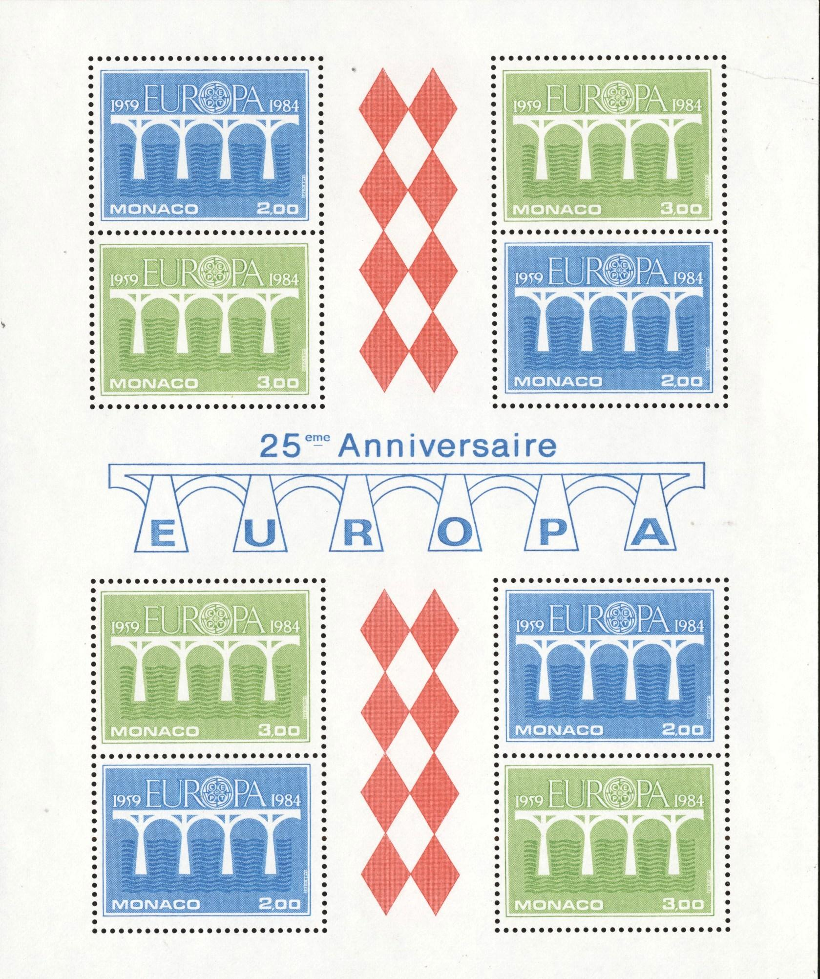 Stamps with Europe, Europe CEPT from Monaco (image for product #194787)