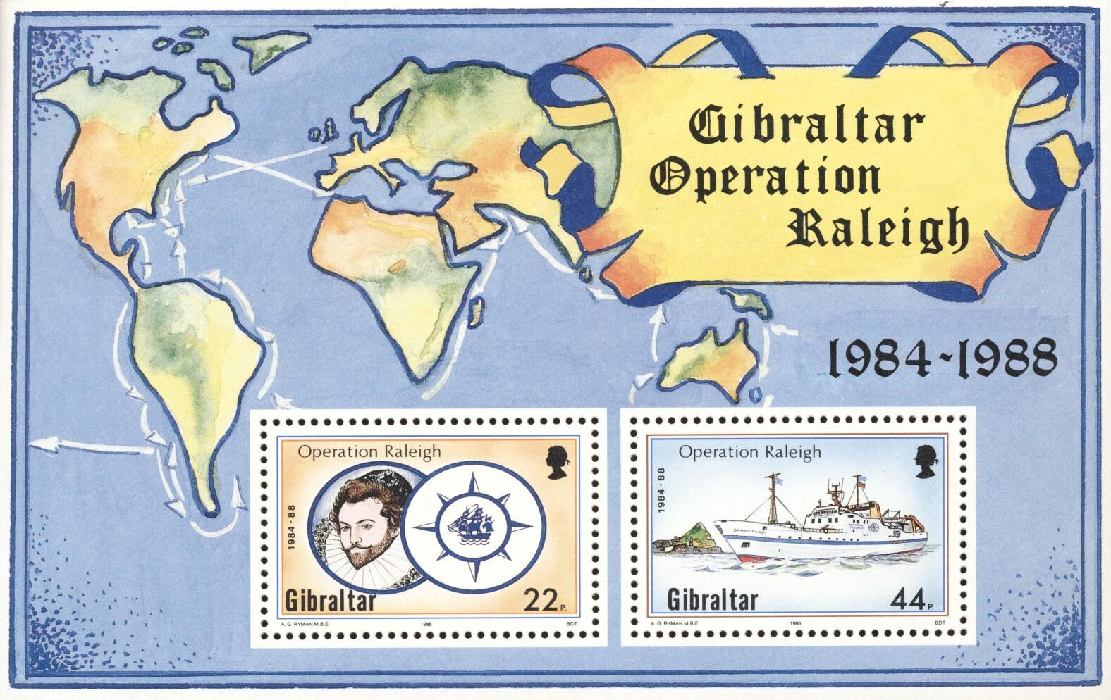 Stamps with Ship from Gibraltar (image for product #194800)