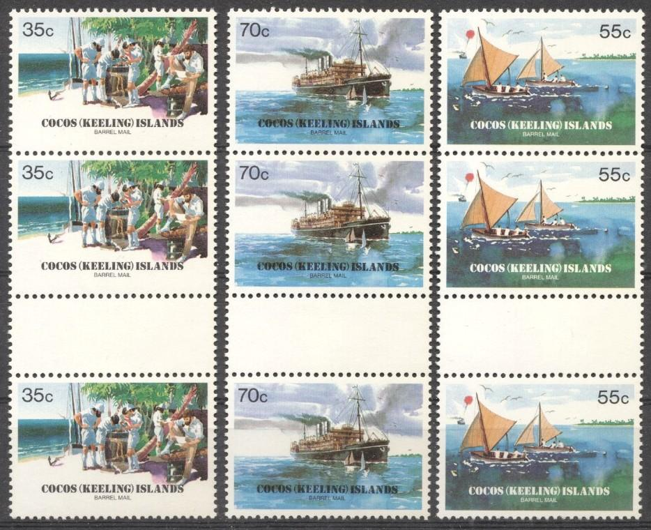 Stamps with Ship, Anchor, Postage Due from Cocos (Keeling) Islands (image for product #199460)