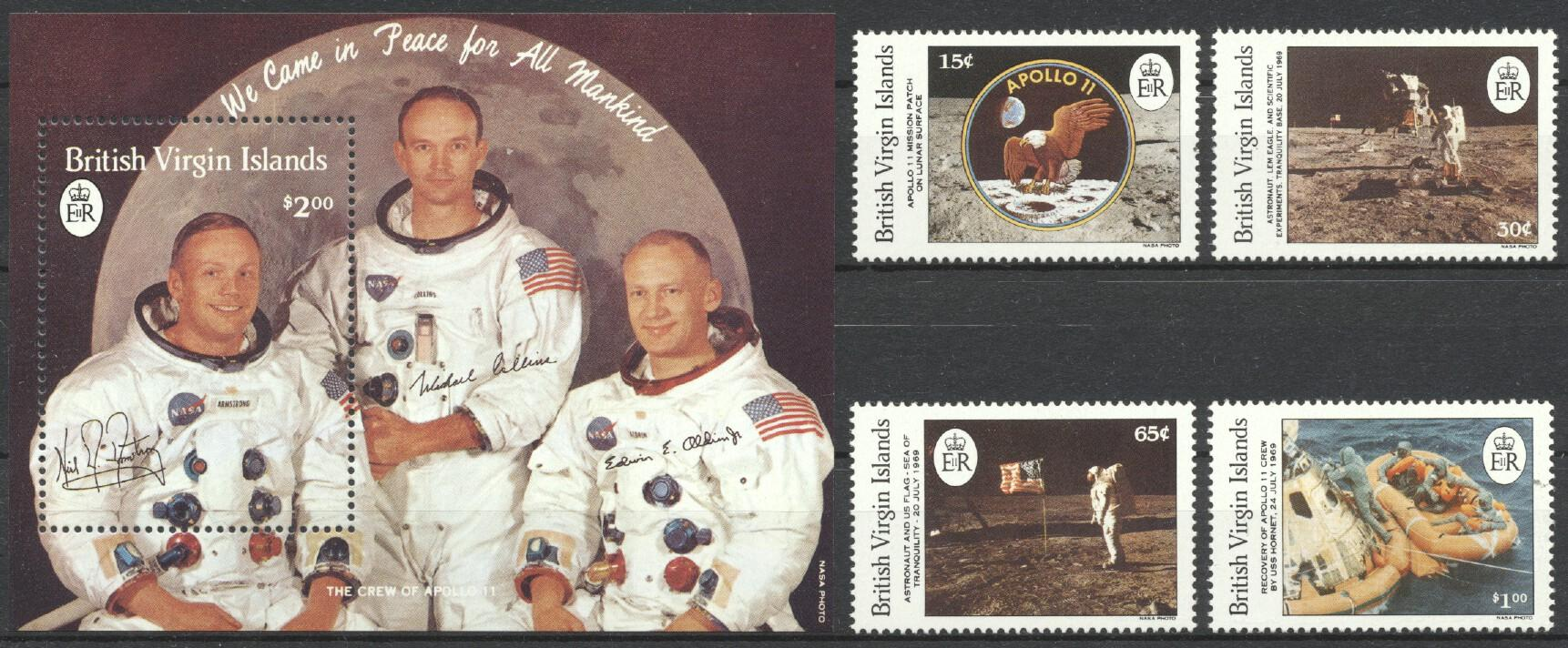 Stamps with Space from Virgin Islands (British) (image for product #212067)