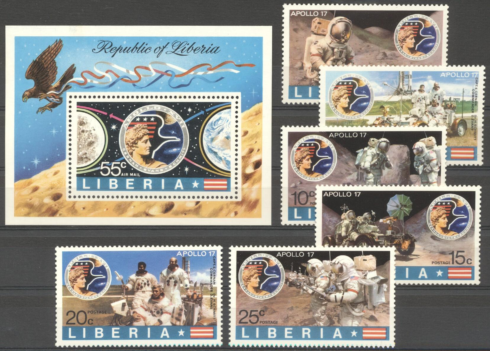 Stamps with Space from Liberia (image for product #212172)