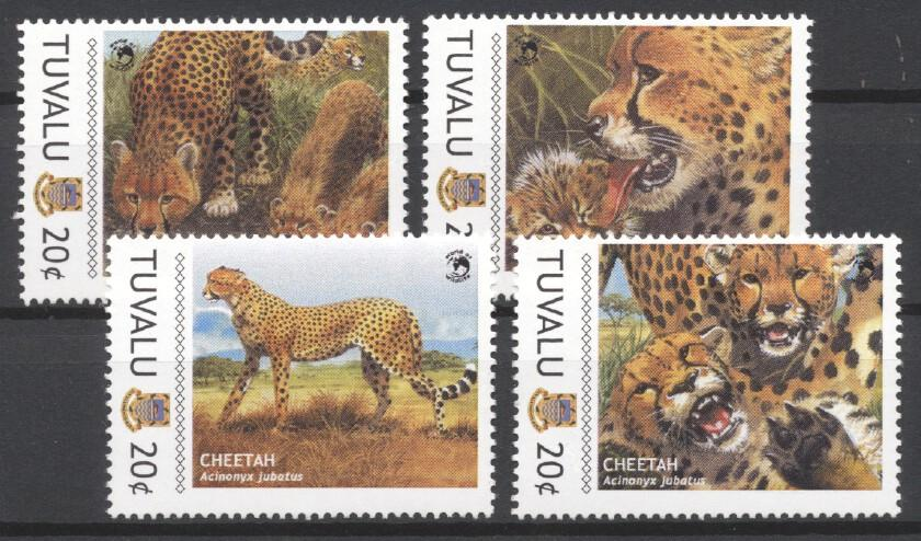 Stamps with WWF, Cheetah from Tuvalu (image for product #232863)