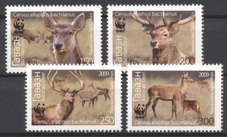 Stamps with WWF, Deer from Tajikistan (image for product #232875)