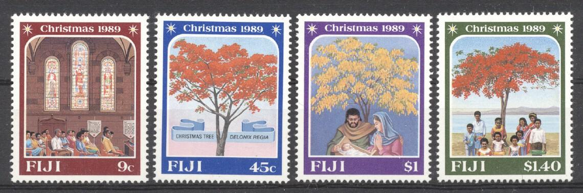 Stamps with Christmas, Tree from Fiji (image for product #238824)