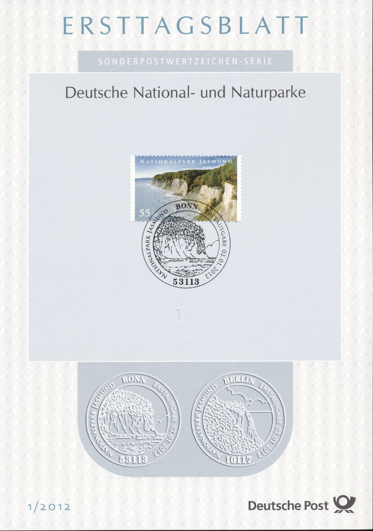 Stamps with Landscapes from Germany (image for product #240505)