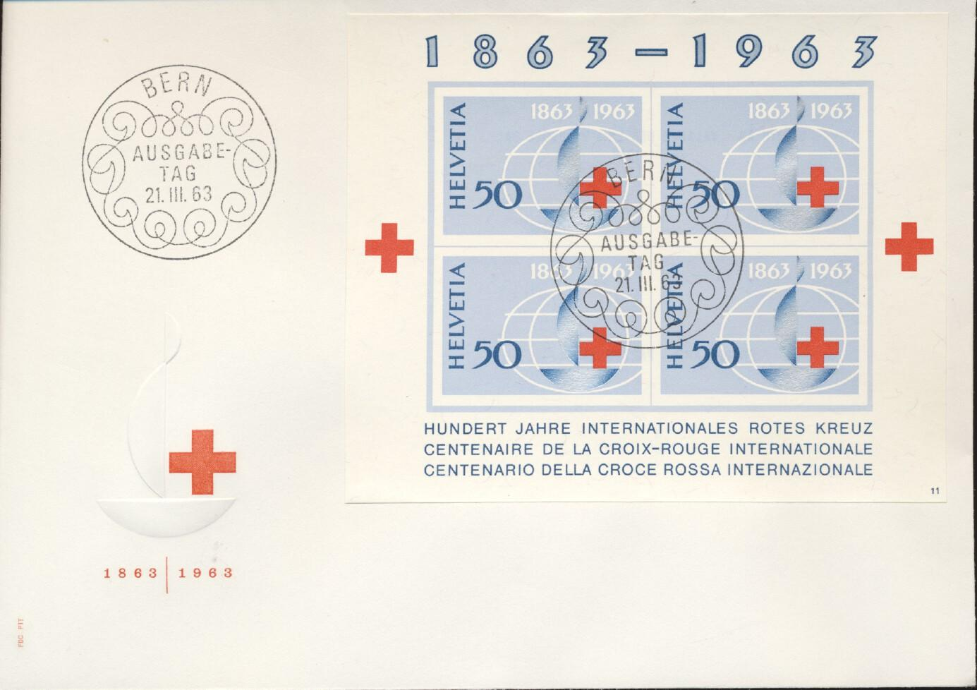 Stamps with Red Cross from Switzerland (image for product #240872)