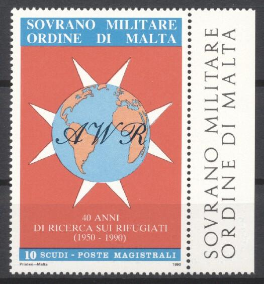 Stamps with Globe / Earth, Refugees from Malta (image for product #244086)