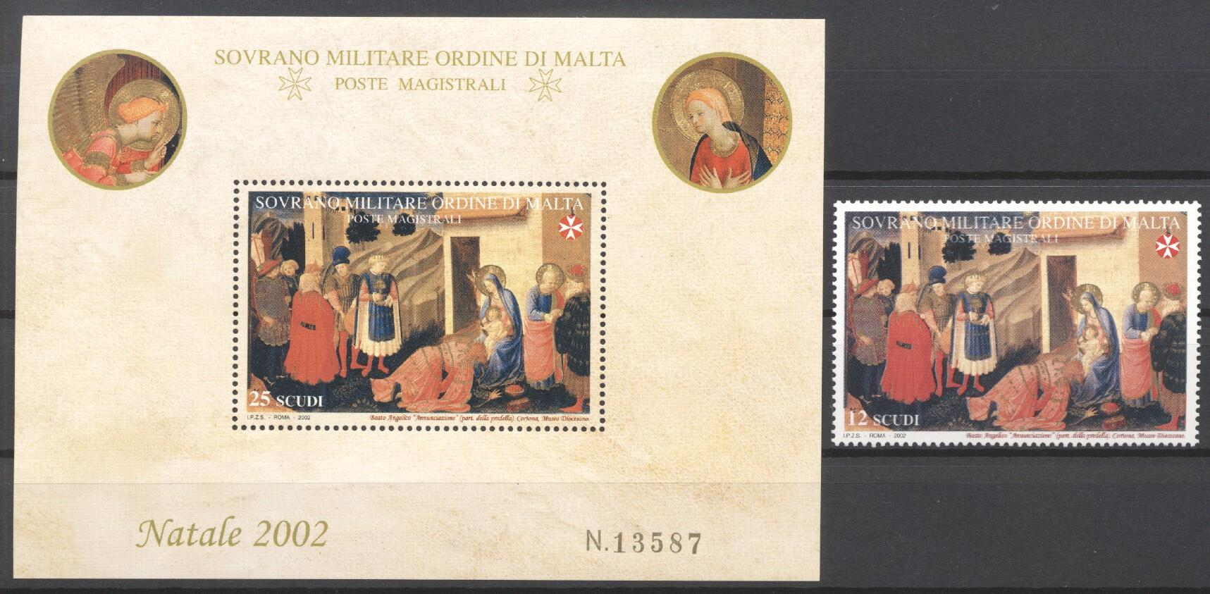 Stamps with Christmas, Art from Malta (image for product #244206)