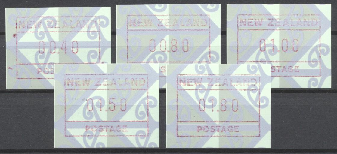 Stamps with ATM from New Zealand (image for product #244538)