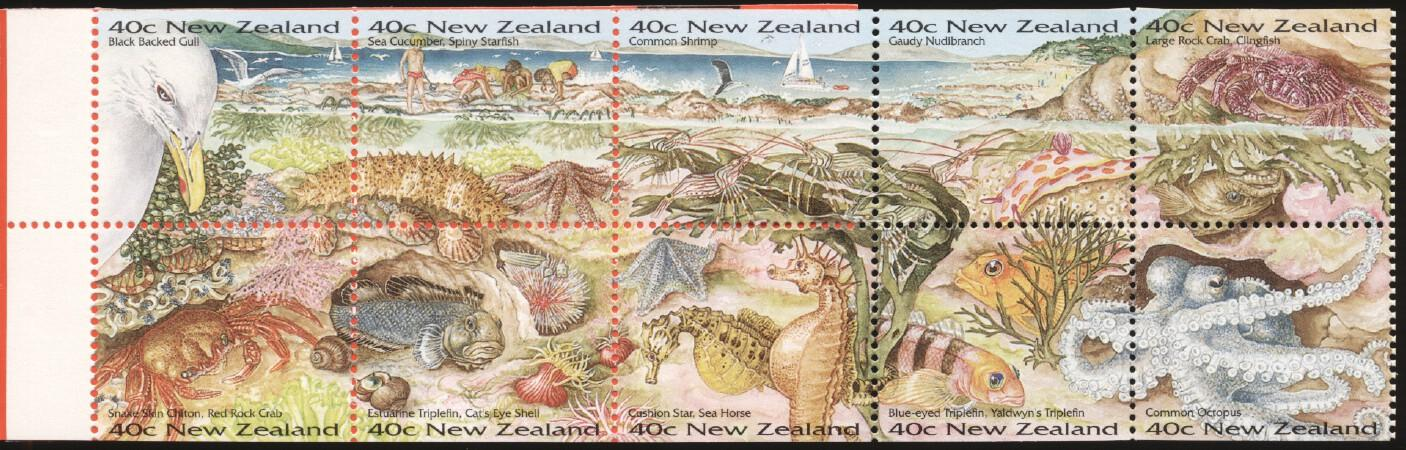 Stamps with Bird, Fish, Sea Horse from New Zealand (image for product #244550)