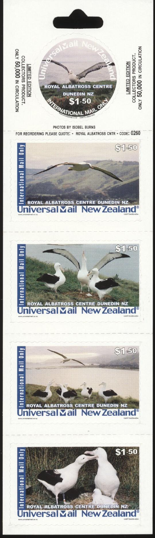 Stamps with Bird from New Zealand (image for product #244645)