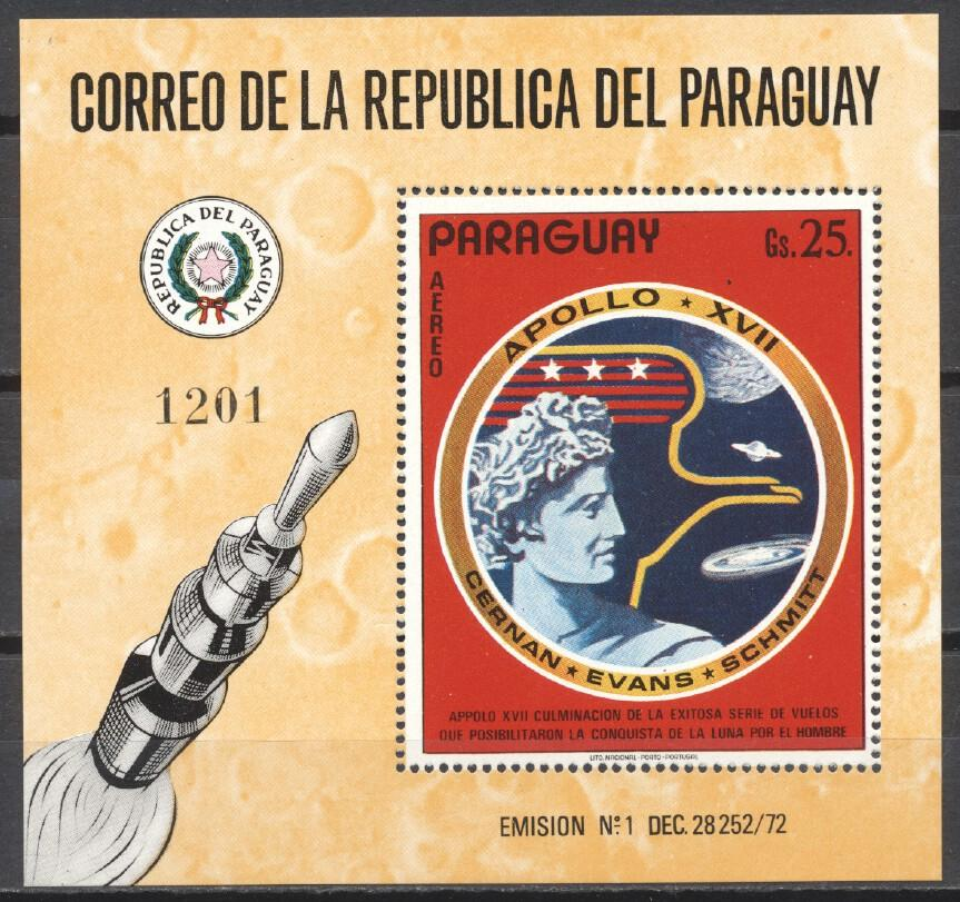 Stamps with Space from Paraguay (image for product #244742)