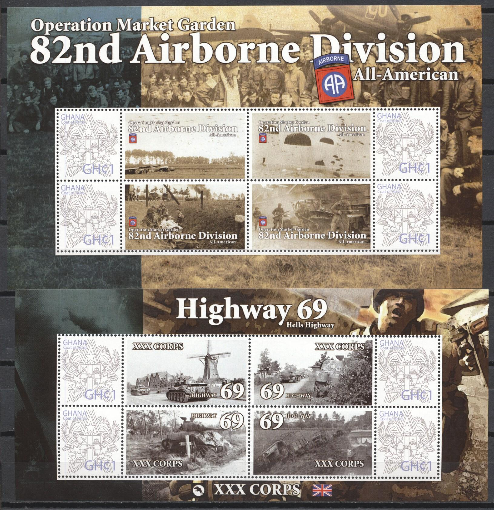 Stamps with World War II, Army, History from Ghana (image for product #245613)