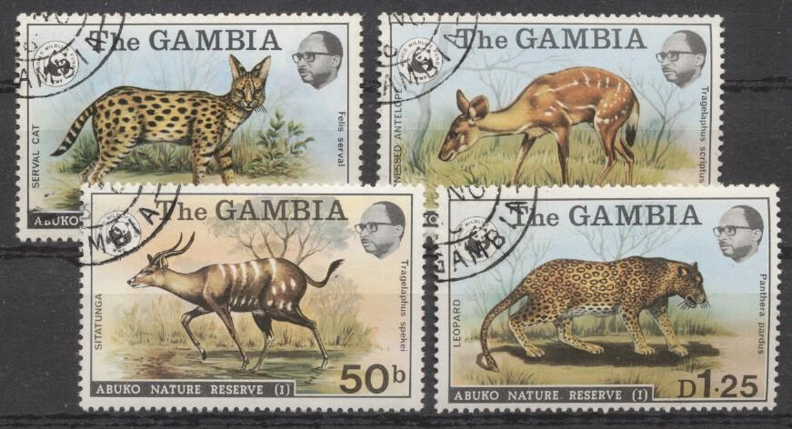 Stamps with WWF, Leopard, Antilope from Gambia (image for product #246930)