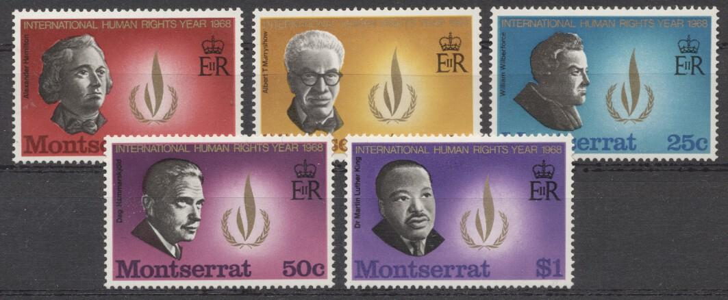 Stamps with Human Rights, Martin Luther King from Montserrat (image for product #246963)