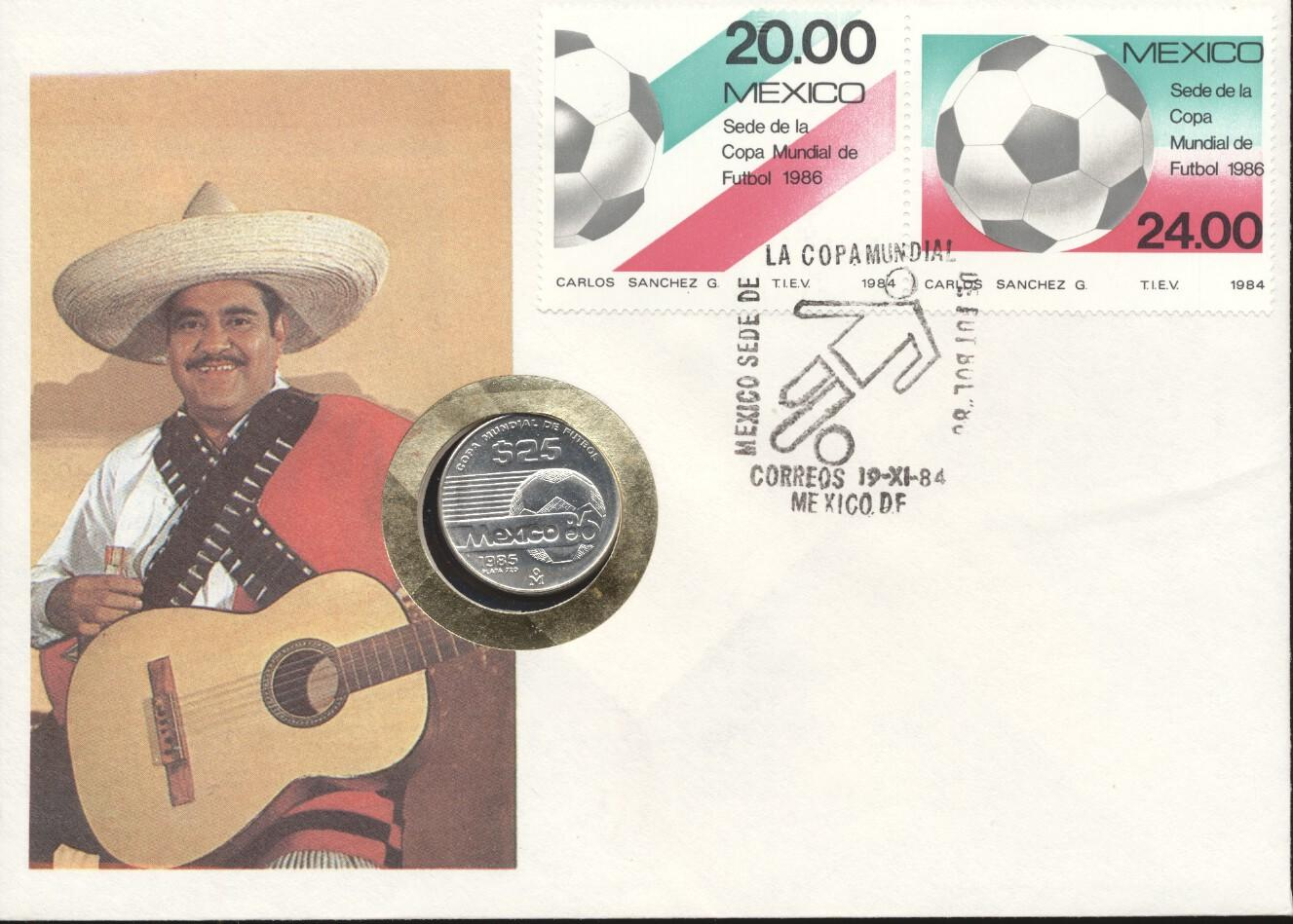Stamps with Soccer from Mexico (image for product #247885)