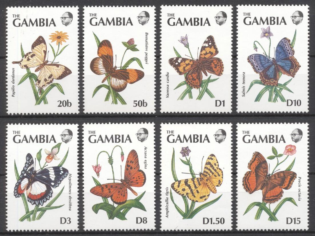 Stamps with Butterflies, Insects from Gambia (image for product #249274)