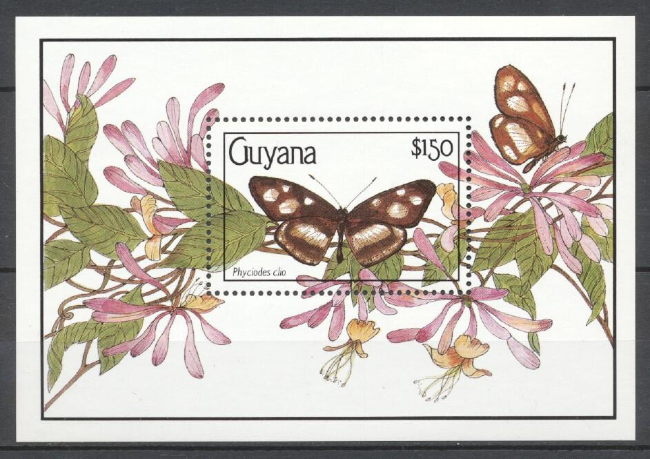 Stamps with Insects, Butterflies from Guyana (image for product #249313)
