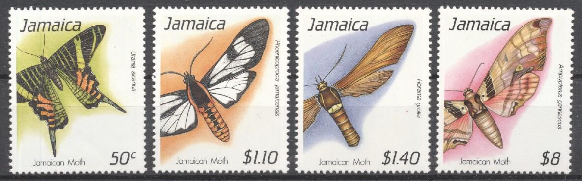 Stamps with Insects, Butterflies from Jamaica (image for product #249347)