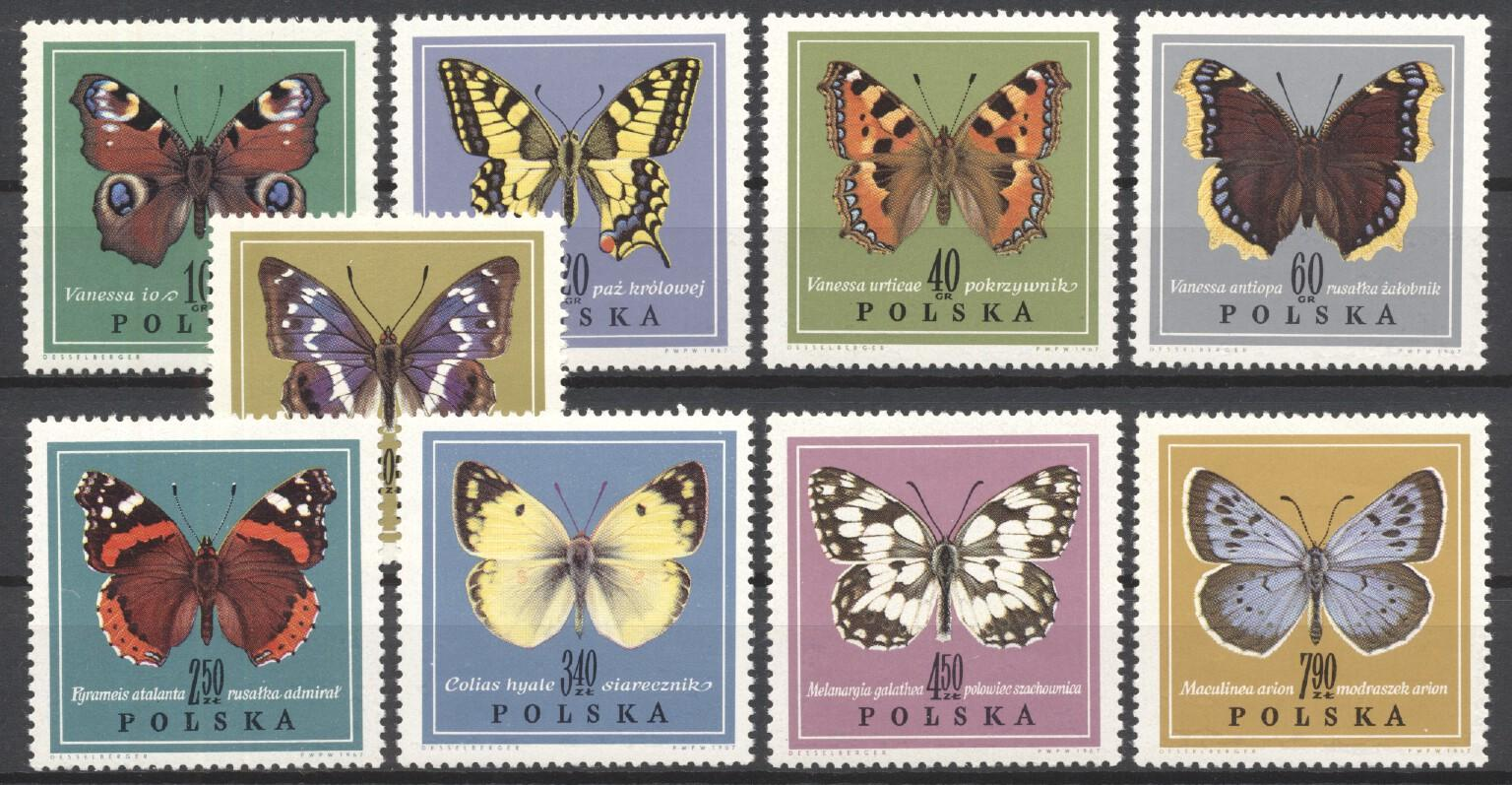 Stamps with Insects, Butterflies from Poland (image for product #249617)