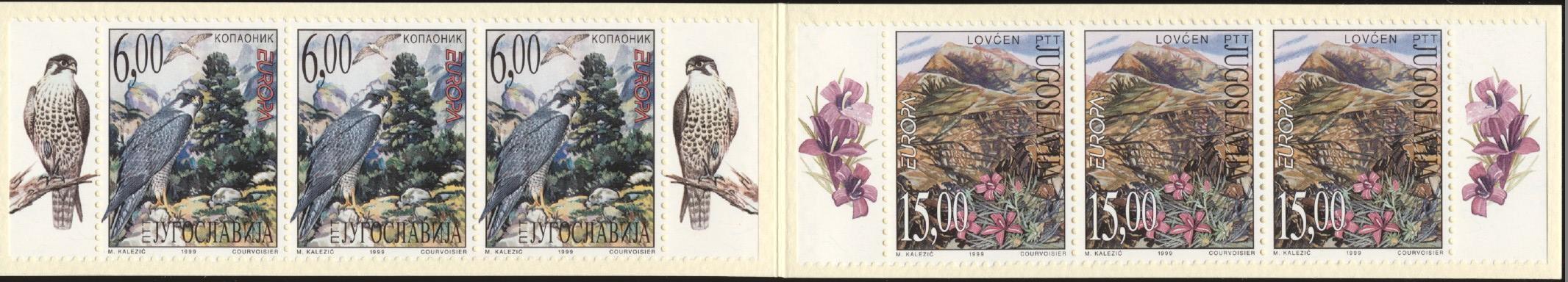 Stamps with Flowers, Bird of prey from Yugoslavia (image for product #250954)