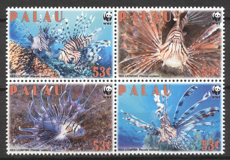 Stamps with Fish, WWF from Palau (image for product #252108)